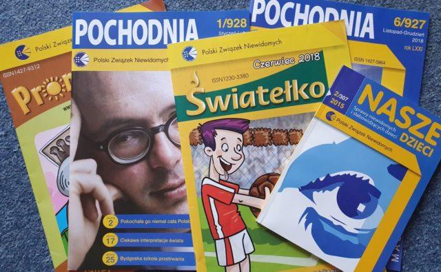 Różne okładki czasopism: Pochodni, Naszych Dzieci, Promyczka, Światełka