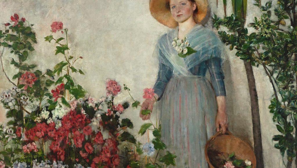 Kobieta w ogrodzie. Obraz Olgii Boznańskiej