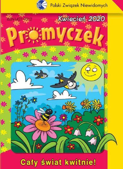 Wiosenna okładka Promyczka - kwiaty, słońce, ptaki