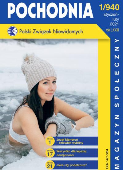 Okładka Pochodni, a na niej kobieta kąpiąca się zimą w stawie.