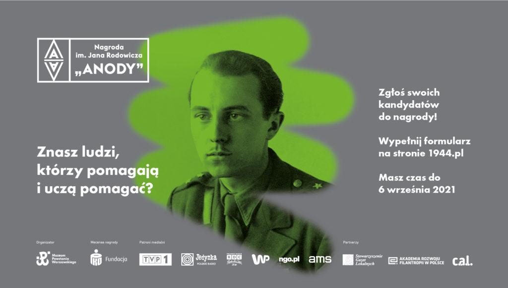 Plakat promujący nagrodę im. Anody