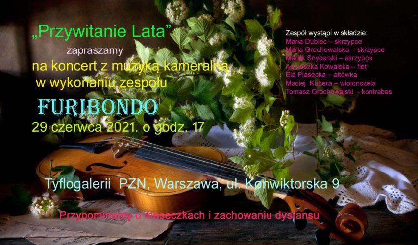 Plakat informujący o koncercie