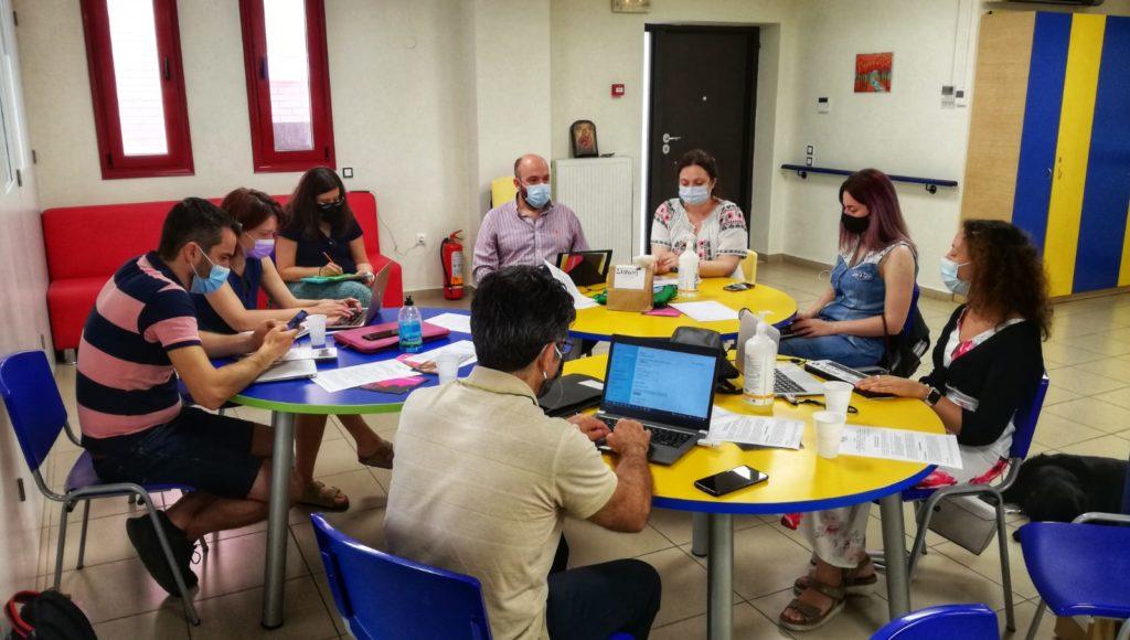 Uczestnicy spotkania projektowego w Salonikach
