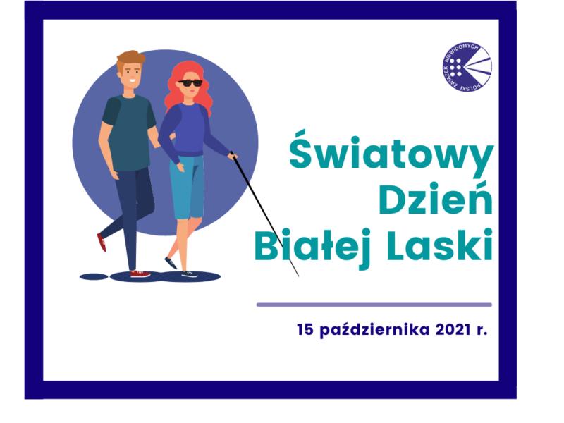 Plakat informacyjny Światowego dnia Białej Laski